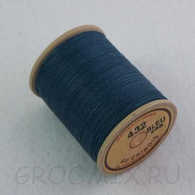 Нитки льняные вощенные Lin Cable синие-266