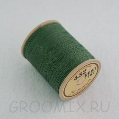 Нитки льняные вощенные Lin Cable зеленый-767
