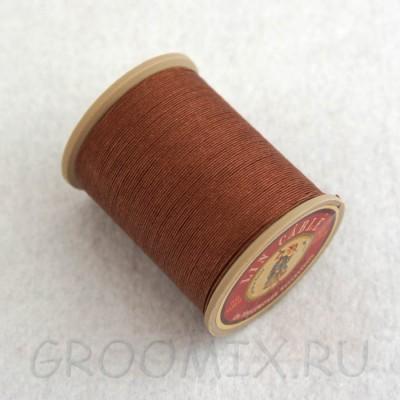 Нитки льняные вощенные Lin Cable коричневые-276