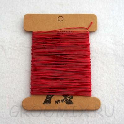 Нитки льняные вощенные Lin Cable красные-128 10 метров