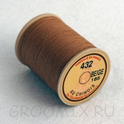 Нитки льняные вощенные Lin Cable коричневые-185