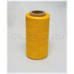 Нитки плетеные, вощеные. Толщина 0,8 мм.  Желтые
