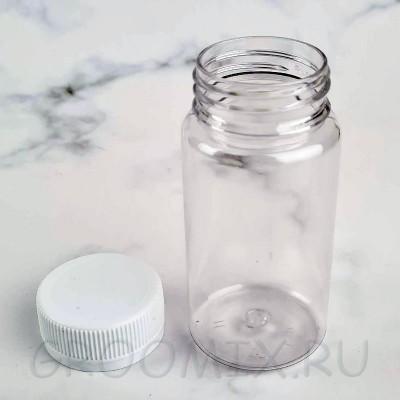 Пластиковая бутылка круглая 100 мл